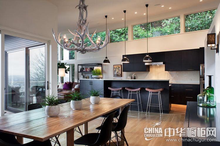 现代风格厨房装修效果图 浸透文艺简约风韵