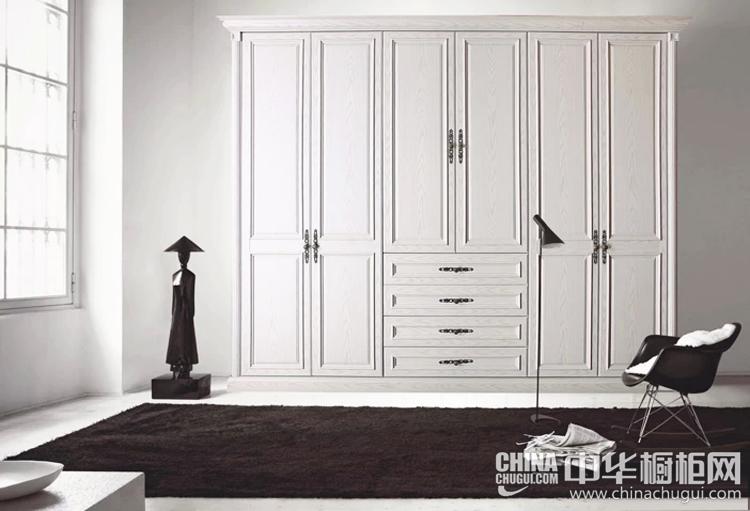 白色系整体衣柜图片 简欧设计亦能提供基本需求