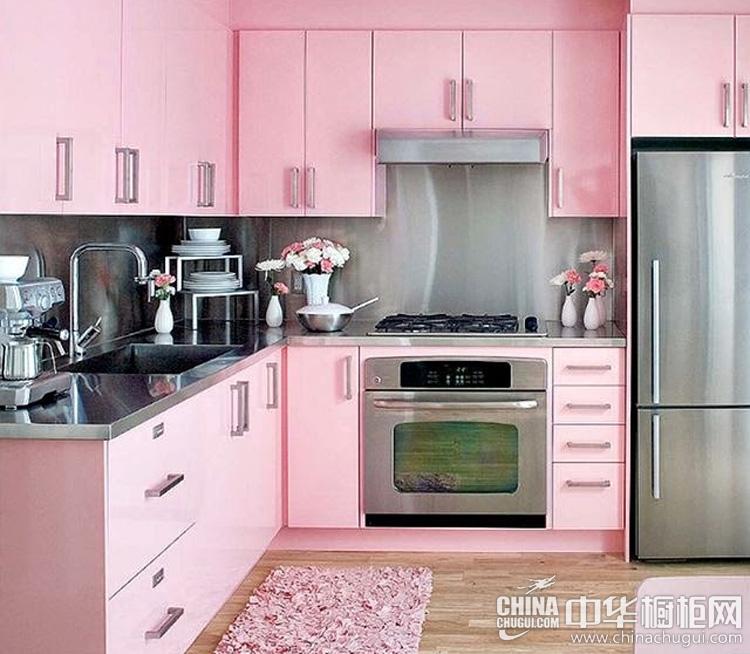 粉红马卡龙橱柜图片 妆饰属于自己的少女时代