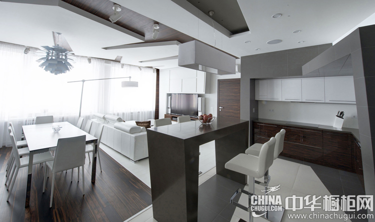 现代风格厨房装修效果图 俄罗斯设计师的强力佳作