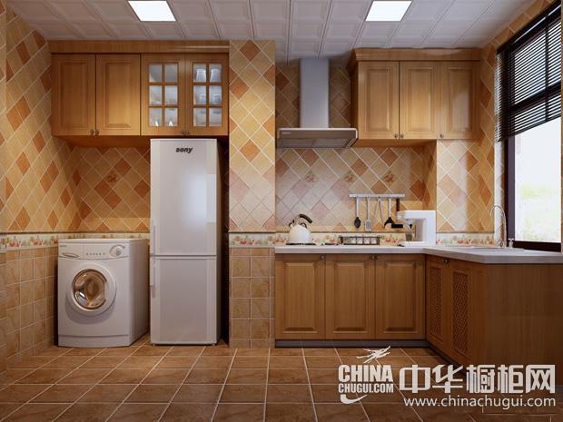 """美式乡村风格厨房装修效果图 让厨房""""回归自然"""""""