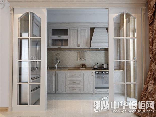梦幻少女心厨房图片 白色巧克力橱柜惹人爱