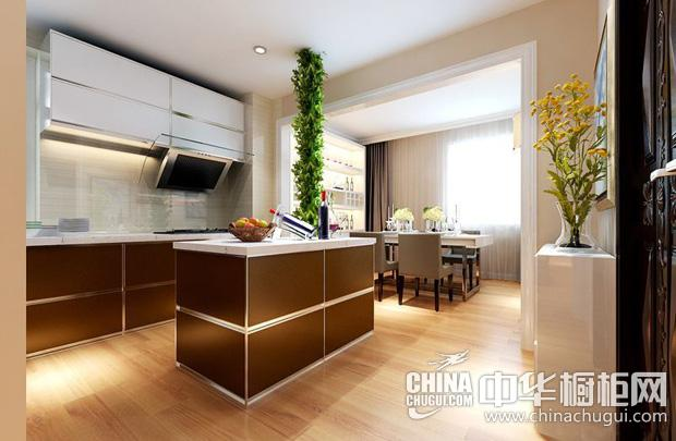现代简约风格厨房图片 色彩分明营造空间感