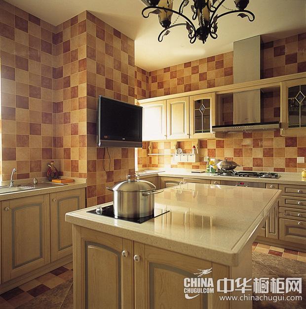 混搭风格厨房图片 棕色调凸显复古气质