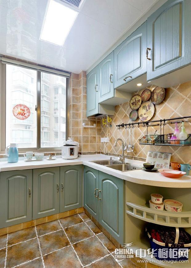 地中海风格厨房图片 一汪碧蓝深邃的海