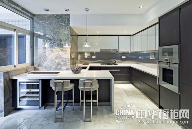 现代简约风格厨房装修效果图 简单元素打造小资情调