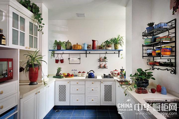 田园风格厨房装饰效果图 多元化混合元素创造潮流空间