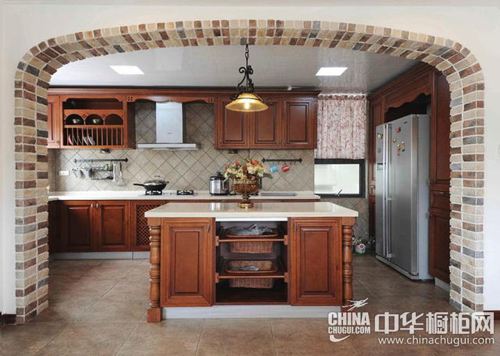 美式乡村风格厨房橱柜图片 凸显古韵悠扬之感