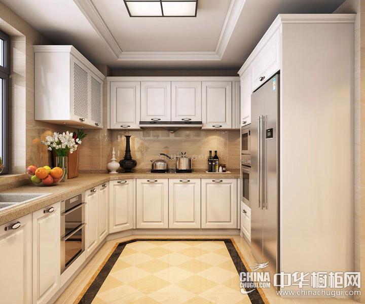 欧式风格小厨房装修效果图 整体橱柜展现卓越品质