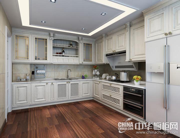厨房装修设计效果图 欧式风格橱柜营造简约明了之气