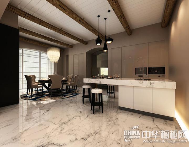 开放式厨房装修效果图 打造野奢居住空间