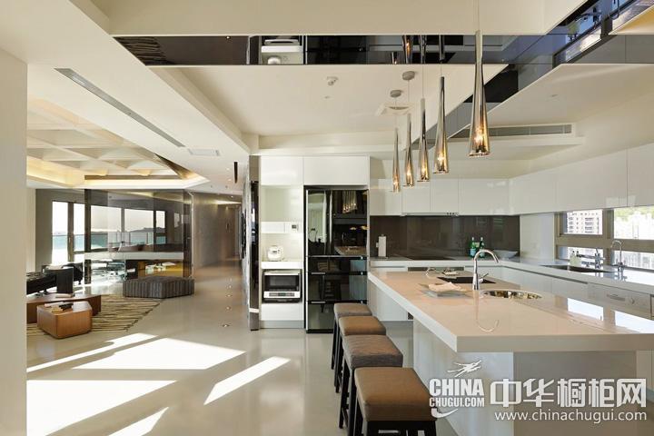 时尚简约整体橱柜效果图 简约风格厨房图片