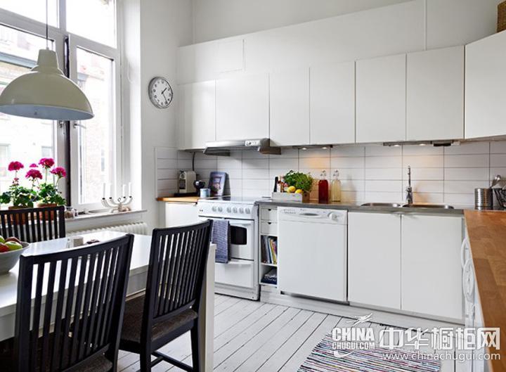 欧式厨房装修效果图 欧式实木橱柜图片