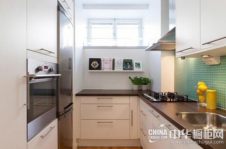 小户型厨房装修效果图欣赏 简约风格整体橱柜图片