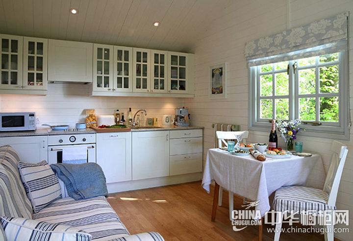 小户型厨房效果图 田园风格橱柜图片