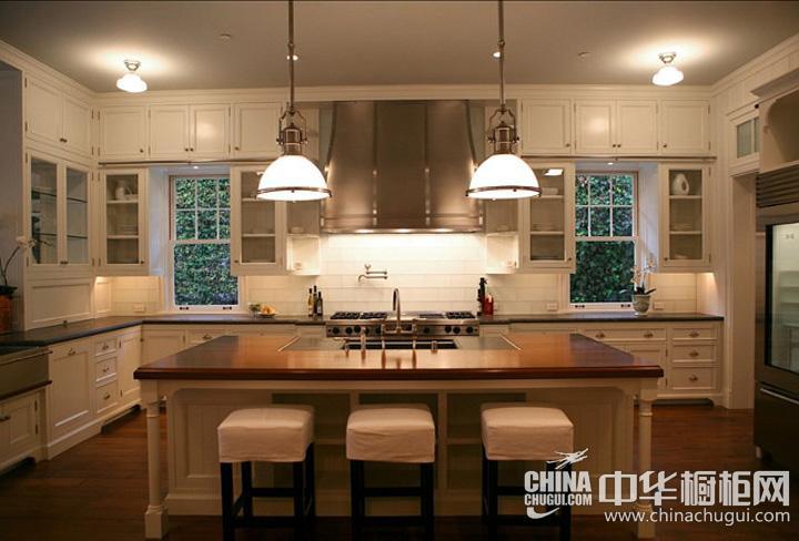 欧式厨房装修设计效果图 岛型整体橱柜图片