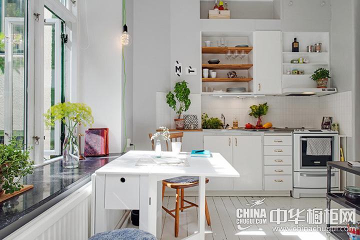 开放式厨房装修效果图 田园风格橱柜图片