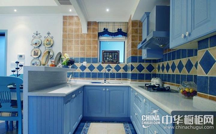 小户型厨房装修效果图欣赏 U型橱柜图片