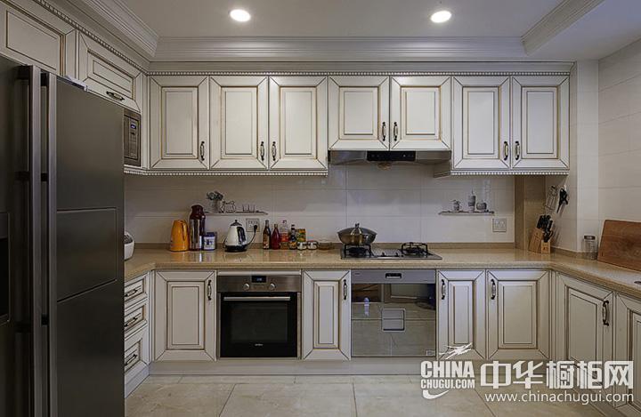 厨房间效果图 欧式橱柜图片