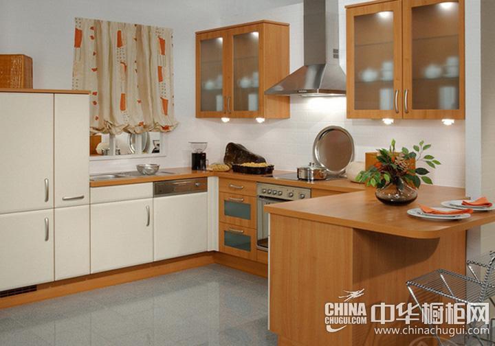 厨房餐厅装修效果图 实木橱柜图片