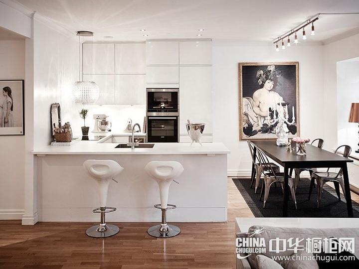 厨房装修效果图 白色橱柜图片