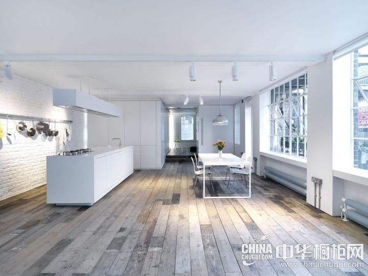 厨房餐厅装修效果图 现代简约橱柜图片