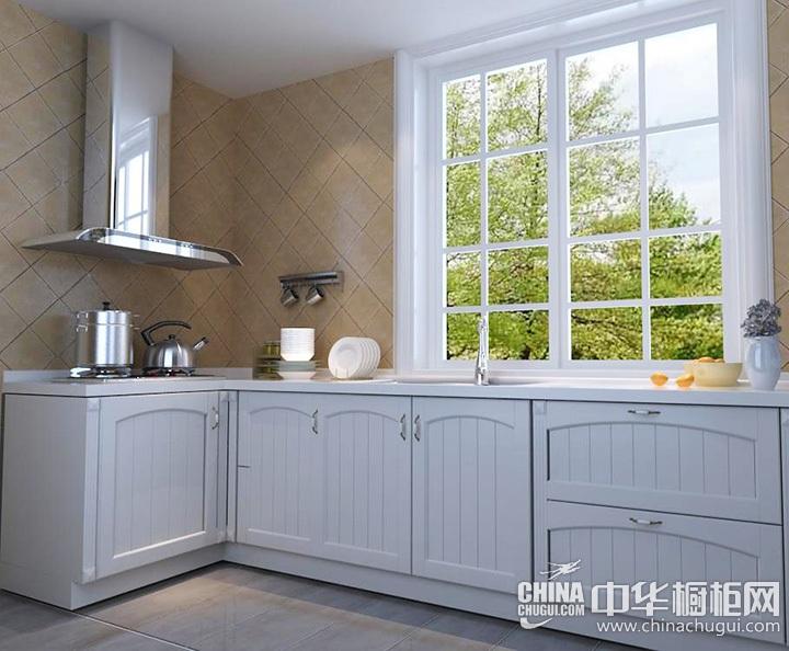 北欧风格厨房装修效果图 L型橱柜设计图片