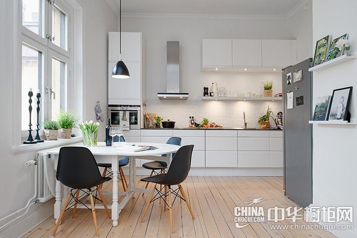 开放式厨房装修效果图 北欧风格橱柜图片