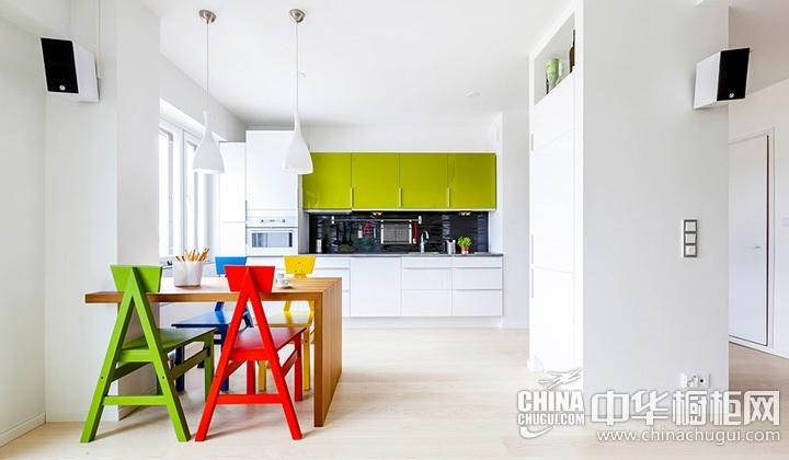 开放式厨房设计效果图大全 白色橱柜图片