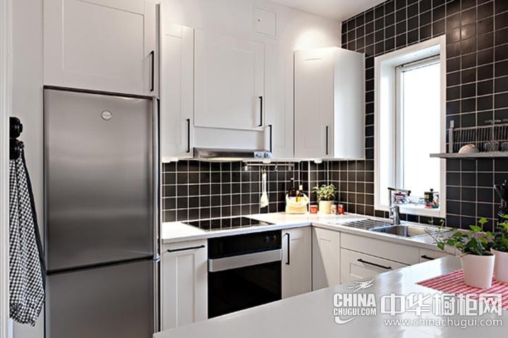 简约风格厨房图片 U型橱柜图片