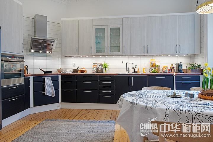 开放式厨房装修效果图 简欧开放式厨房装修效果图