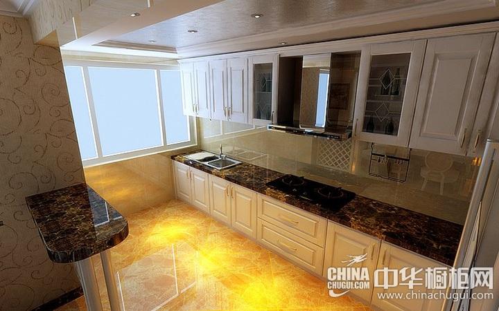 一字型厨房装修效果图 一字型橱柜效果图