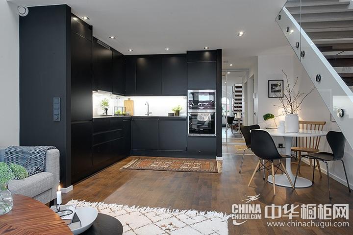 开放式整体厨房设计效果图 开放式厨房效果图