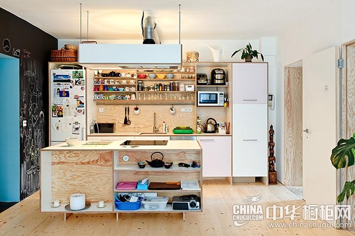 开放式厨房效果图 开放式橱柜图片