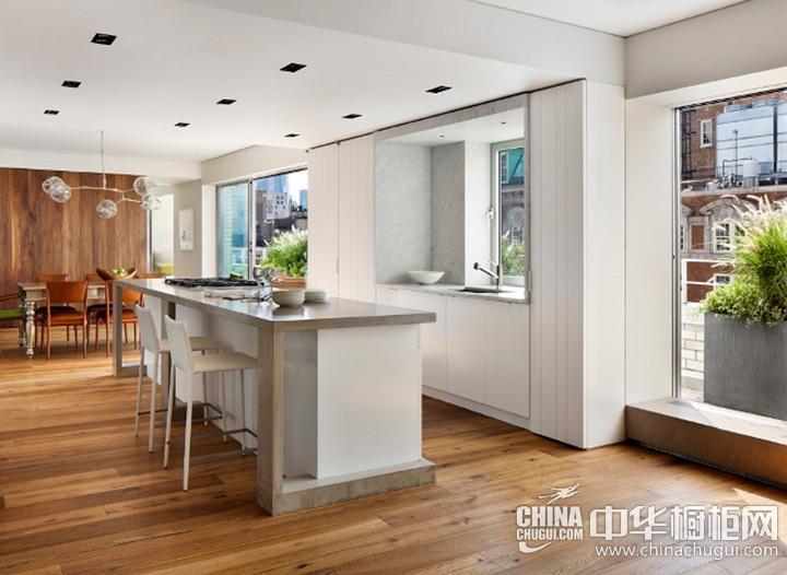 厨房餐厅装修效果图 岛型橱柜图片