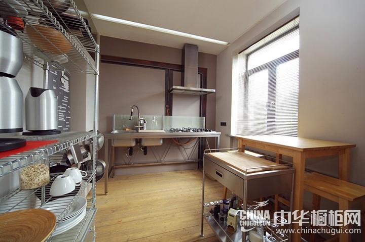 工业风厨房装修效果图 工业风厨房图片