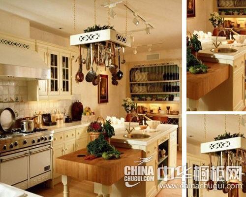 实木橱柜设计介绍 打造欧式田园风格厨房