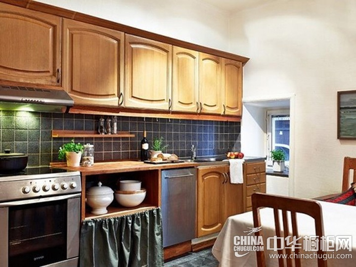 一字型厨房装修图片 一字型橱柜设计图片