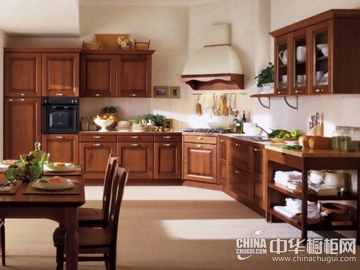 美式田园风格橱柜效果图 田园风格厨房效果图