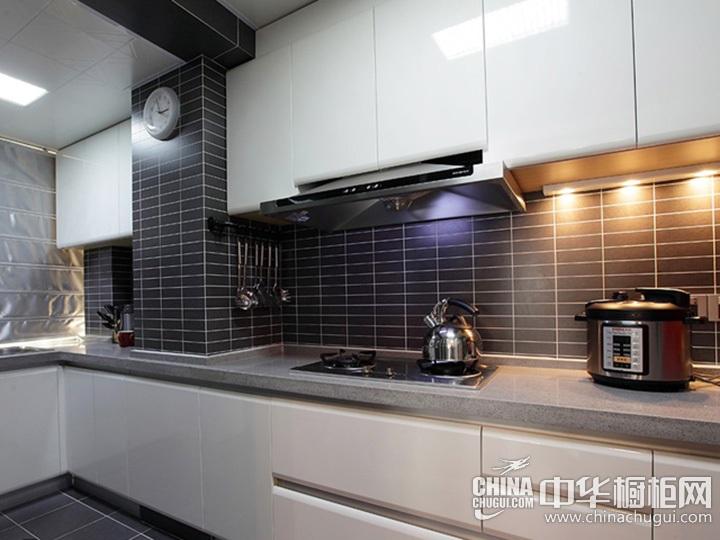 L型厨房效果图 L型橱柜图片