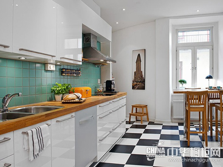 北欧风厨房装修效果图 北欧风格厨房装修图片