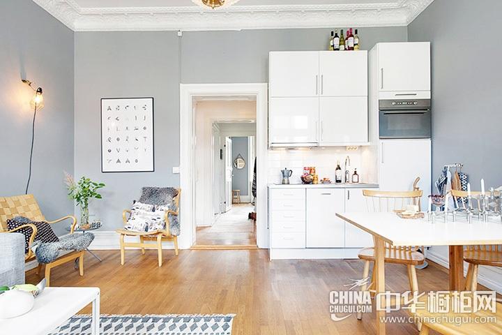 厨房客厅一体装修图 客厅厨房一体装效果图