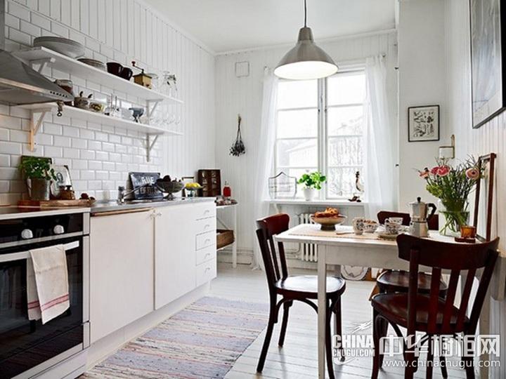 北欧风厨房装修效果图 北欧风格橱柜图片