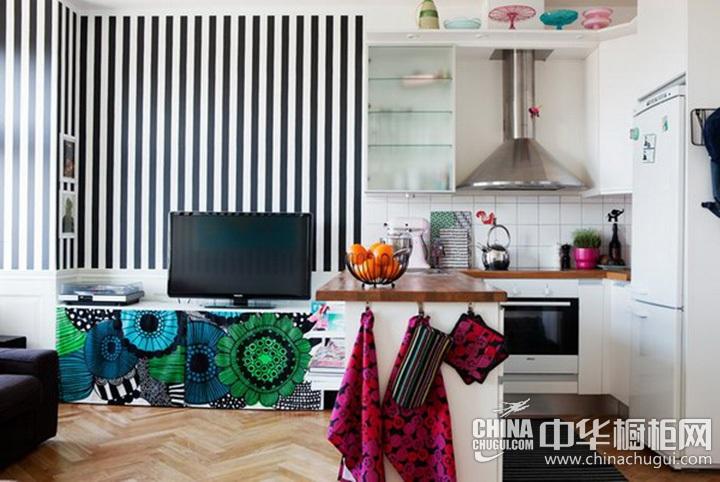 厨房客厅一体装修图 客厅厨房一体装修图
