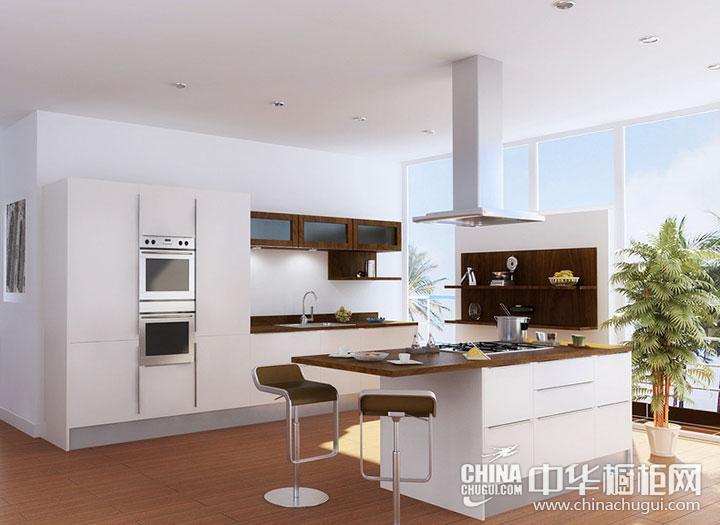 白色简约风格橱柜效果图 白色厨房效果图
