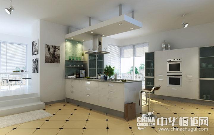 开放式厨房效果图 整体厨房设计图片