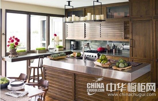 家庭厨房装修效果图:明黄色烤漆外观十分亮眼,时尚感强烈的设计更具