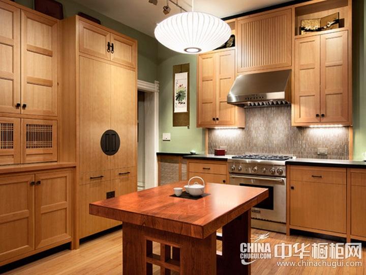 日式厨房装修效果图 日式风格橱柜图片