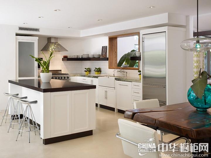 开放式厨房装修效果图 开放式厨房橱柜图片