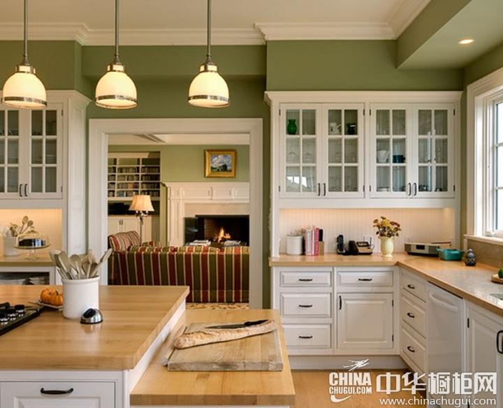 田园厨房装修图片 欧式田园风格橱柜图片